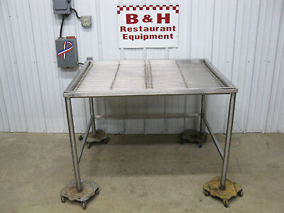 """Win-Holt 48"""" x 40"""" Stainless Steel Prep Butcher Drain Table Sink 4' DT-404833"""