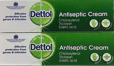 2x Dettol Antiseptic Cream 30g Protection from Germs & Infection Travel
