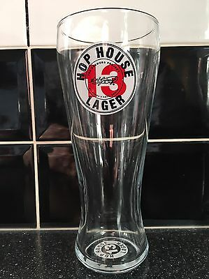 Guinness Hop House 13 Lager Pint Glass - New / Ce  Stamped / Nucleated