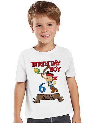 Jake and the Neverland Pirates Birthday Shirt Personalized Name and Age Jake