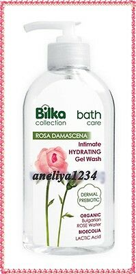 Bilka Bath Care Intimate Hydrating Wash Gel - Organic Bulgarian Rose Water 200ml