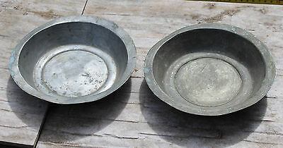 two antique Ottoman copper bowls