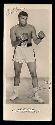 """Cassius CLAY signed vintage """"I AM THE GREATEST"""" 1963 Boxing Promo Photo AFTAL"""