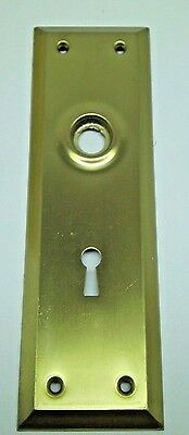 "Lot Of 2 Nos Vintage Door Knob Key Hole Back Plate Brass Finish 7"" X 2 1/4"" Dm"