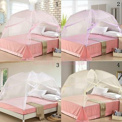 Pop Up Camping Tent Bed Canopy Mosquito Net Full Queen King Size