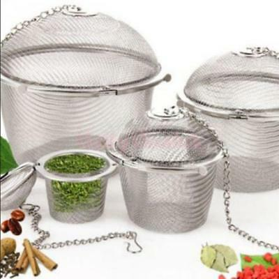 Stainless Steel Ball Tea Leaf Strainer Infuser Mesh Filter Herb Steeper 4 Sizes