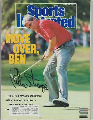 Curtis Strange AUTOGRAPH 1989 SPORTS ILLUSTRATED SIGNED