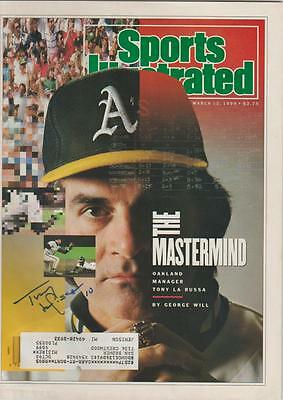 Tony LaRussa AUTOGRAPH 1990 SPORTS ILLUSTRATED SIGNED