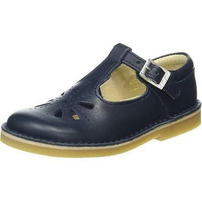 Start-Rite Tea Party Navy Leather Shoes
