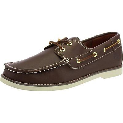 Timberland Seabury Classic Youth Brown Leather Boat Shoes