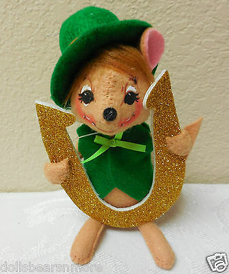 """NWTMWT 2014 Annalee 5"""" """"SNIFFLES MOUSE W HORSESHOE"""" #150514 FREE SHIPPING!"""