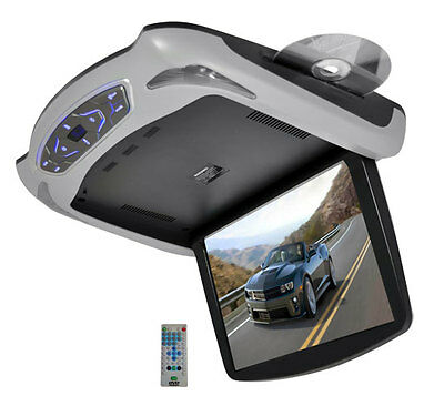 "Pyle PLRD145 12.1"" LCD Roof Mount Drop Down Monitor With Built-In DVD & 3 Colors"