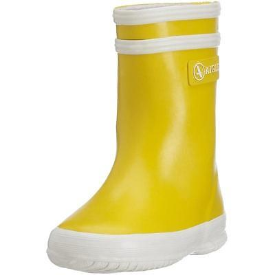 Aigle Baby Flac Yellow Rubber Wellingtons Boots
