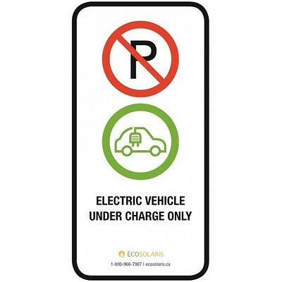 Electric vehicle under charge only parking sign