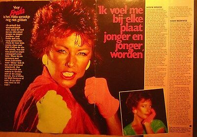 2 dutch clipping ANNAFRID FRIDA EX ABBA SINGER ROCK POP BOY BAND BOYS GROUP 80`s