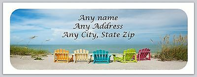 30 Personalized Return Address Labels Beach Buy 3 Get 1 free(c 679)