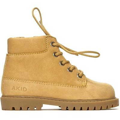 Akid Atticus Tan Leather Ankle Boots