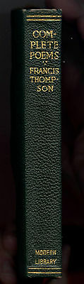 Complete Poetical Works Of Francis Thompson - The Modern Library Edition