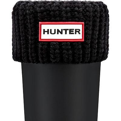 Hunter Kids Half Cardigan Boot Sock Black Textile Wellingtons Boots