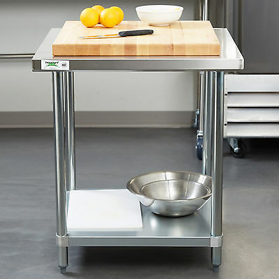 "NEW Regency 30"" x 30"" Stainless Steel Work Prep Table Commercial Restaurant NSF"