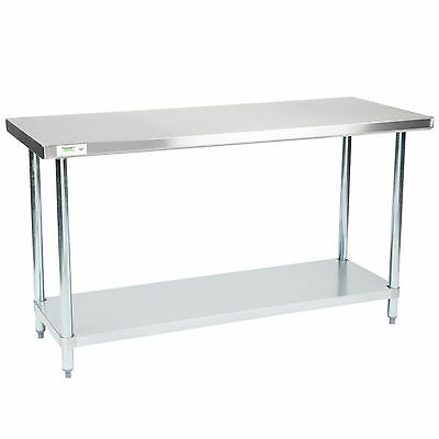 "NEW Regency 24"" x 60"" Stainless Steel Work Prep Table Commercial Restaurant NSF"