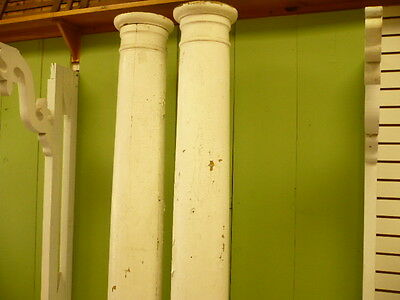 Antique Wood Columns Pair
