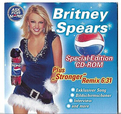 Rare German Promo Cd Britney Spears Pepsi - Ask For More Stronger Remix