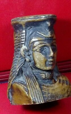 Egyptian Statue, Queen Cleopatra, Carved Basalt Stone, Read Description