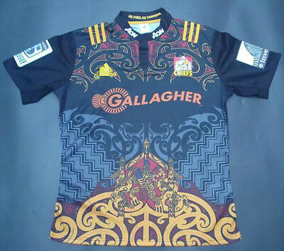 New Zealand 2016-17 chiefs home rugby jersey T Shirt tee SIZE: S-3XL