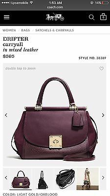 30d6acd5e3 COACH BAG DRIFTER carryall in mixed leather -  498.00