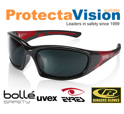 Eyres Bercy Shiny Black Red Safety Glasses Sunglasses