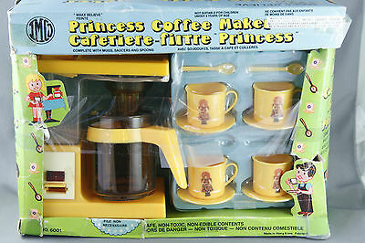 Vtg Play Set Princess Coffee Maker IMCO includes Mugs Saucers Spoons Incomplete