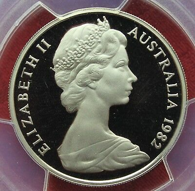 1982 PROOF TWENTY CENT Australia  20c PCGS Graded Coin  - PR68 DCAM