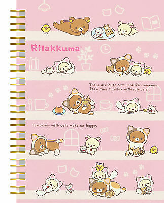 "San-X Rilakkuma ""Cat"" Notebook (Pink)"