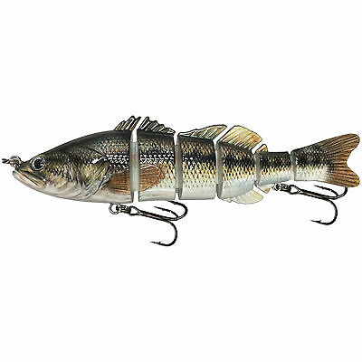 "KDS Custom Slow Sinking Jointed 6"" Multi Section Swimbait - Spotted Bass"
