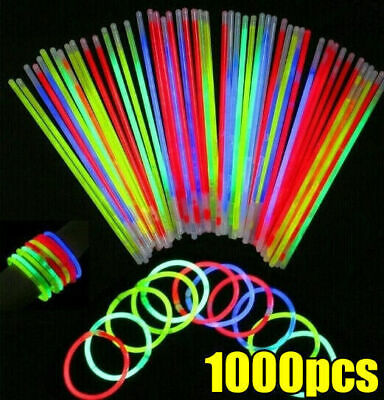 1000 Color Mixed Glow Sticks Light Bracelets Party glowsticks glow in the dark
