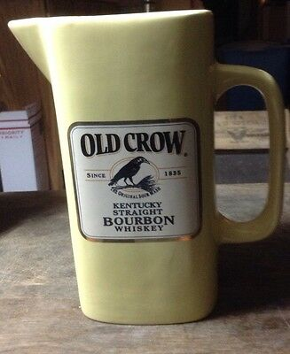 Vintage Limited Old Crow Yellow Pitcher Whiskey Advertising