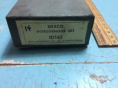 Antique Vintage Dexco Intravenous Kit Rare Medical Kit Ideal Instruments