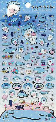 "San-X Jinbesan (""Whale Shark"") Stickers (#2)"