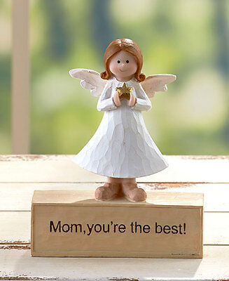Mom Inspirational Angel Figurine Statue Sentiment Great Gift Home Decor
