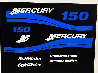 Mercury 150 Offshore Outboard Decal Kit  175 200 250 Hp's Available