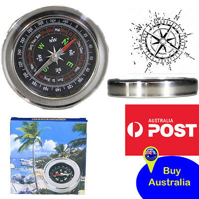 Brand New Aluminium Compass Design for Aust Hiking Camping Tactical Army Gear