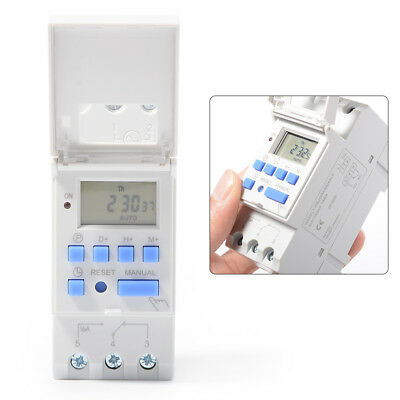 THC15A AC 110V Digital LCD Power Programmable Timer Time Switch Relay 16A TH280