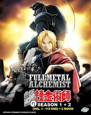 DVD Fullmetal Alchemist Season 1 + 2 Vol.1-115 End Japanese Anime