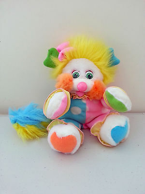 "Vintage Mattel Popples 1988 Costume Clown Plush Toy 80's Approx 9"" (24cm)"