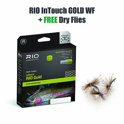 RIO InTouch GOLD WF5 Floating - Fliegenschnur - Fly Line + FREE DRY FLIES