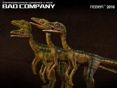 "Rebor 1:6 Compsognathus longipes Museum Class Replica 4er Set Spitzname ""Bad Com"