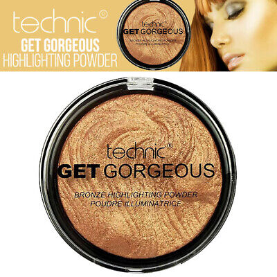 Technic - Get Gorgeous Highlighting Sculpt And Define Powder - 24CT Gold
