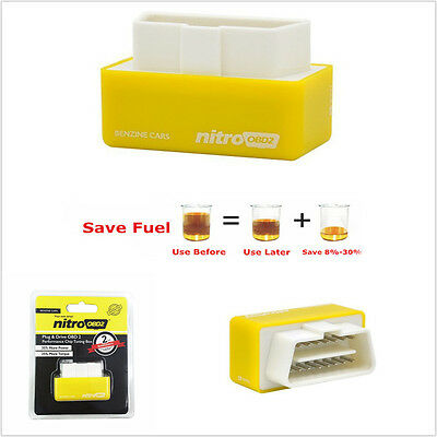 OBD2 Performance Chip Tuning Box Interface Yellow Plug and Drive for Petrol Cars