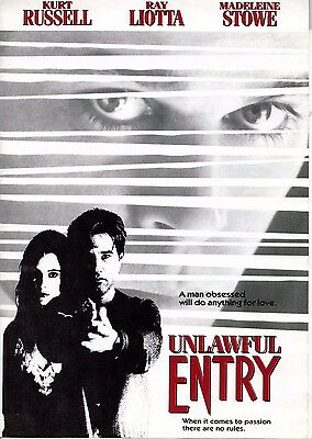 Kurt Russell UNLAWFUL Entry(1992)Original press folder plus 50 pages of notes